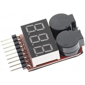 Tester acumulatori 1S-8S, afisaj si buzzer