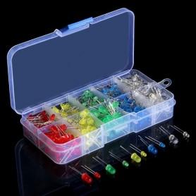 Set 375 leduri, 3mm si 5mm, diferite culori