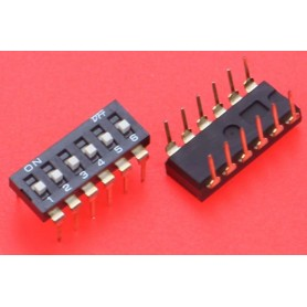 Comutator DIP Switch, DP-6P, 2.54mm