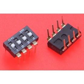 Comutator DIP Switch, DP-4P, 2.54mm