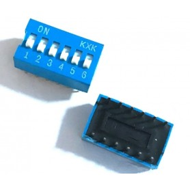 Comutator DIP Switch, DP-6P, 2.54mm, albastru