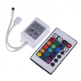 Controler LED RGB, 12V, 24 butoane, IR