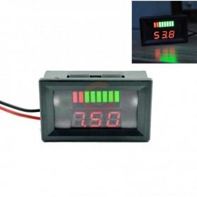 Voltmetru indicator stare baterie, 12-60V, cu display