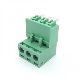 Set conector PCB, terminal, cu surub, 3 pini, 5.08-3P, 90 grade