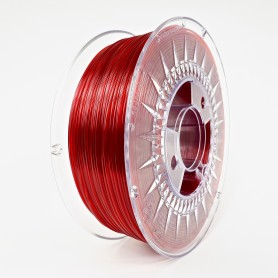 Filament Devil Design PET-G, 1Kg, Rosu Rubin Transparent, Ruby Rubin