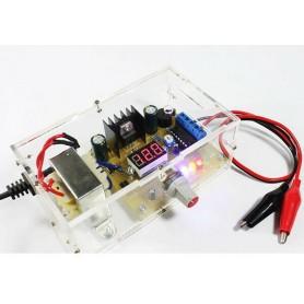 Kit Sursa reglabila 220VAC la 1.25-12VDC, LM317, cu carcasa