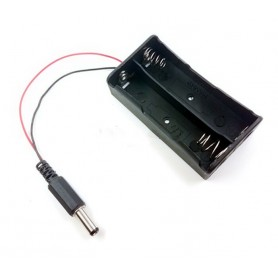 Suport baterie 18650 2S cu mufa 5.5 x 2.1