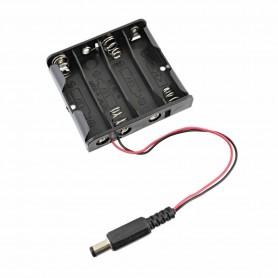 Suport Baterii 4AA cu Mufa