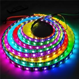 Banda LED adresabila, RGB, WS2812, 60led/m, 10cm, Neagra